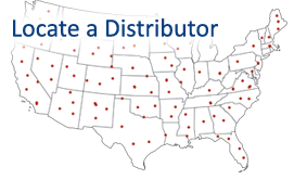 US Map of Distributor Locations